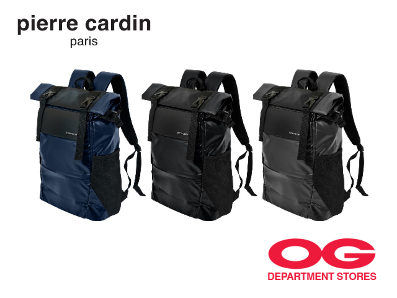 PIERRE CARDIN Backpack @ $39 + Get $9 off URS UV Umbrella (UP $18.90) with your purchase