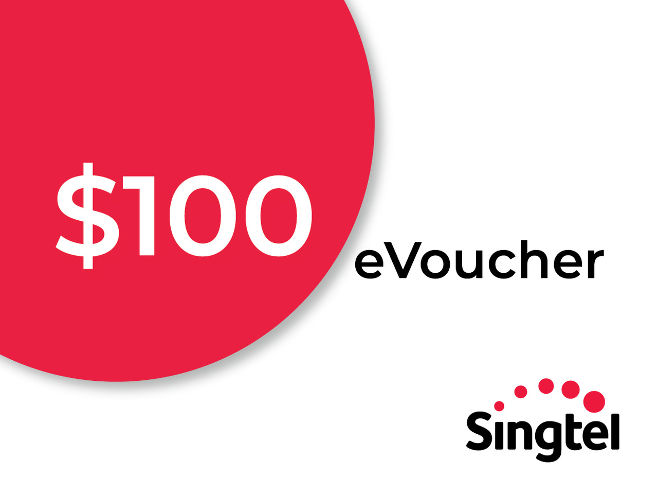 <CNY Exclusive !> 20% off $100 Singtel No Contract Shop eVoucher