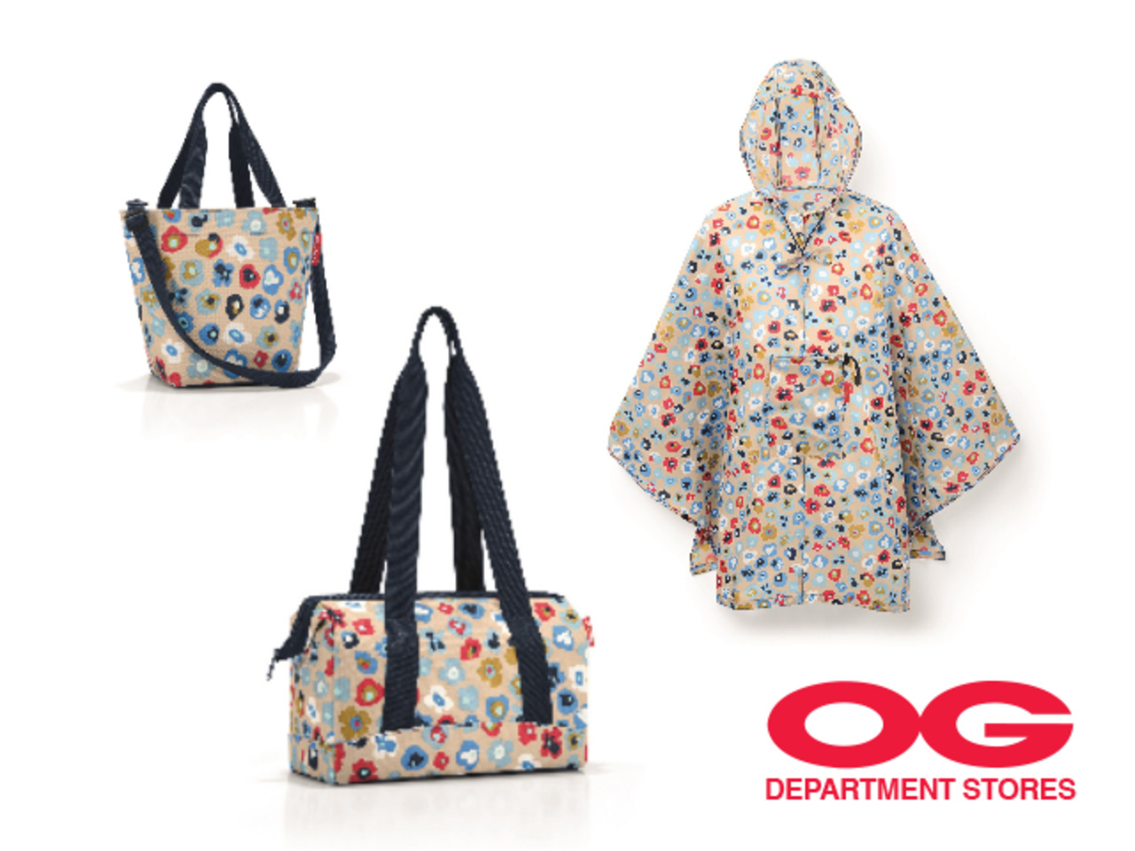 REISENTHEL MILLEFLEURS 2-pc Bag Set + Poncho @ $79
