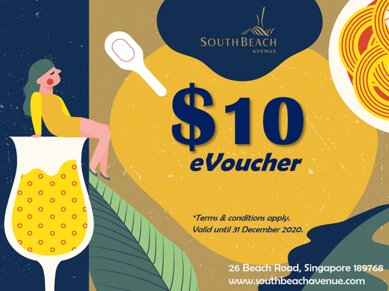 <10.10 Exclusive !> South Beach Avenue $10 Voucher at only $1 !