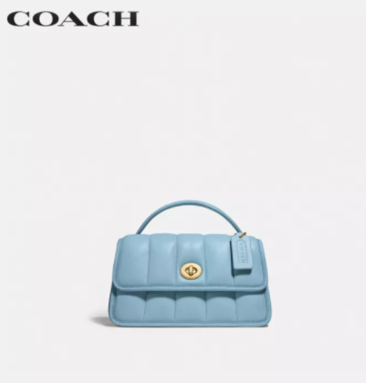 COACH WOMENS TURNLOCK CLUTCH 20 WITH QUILTING