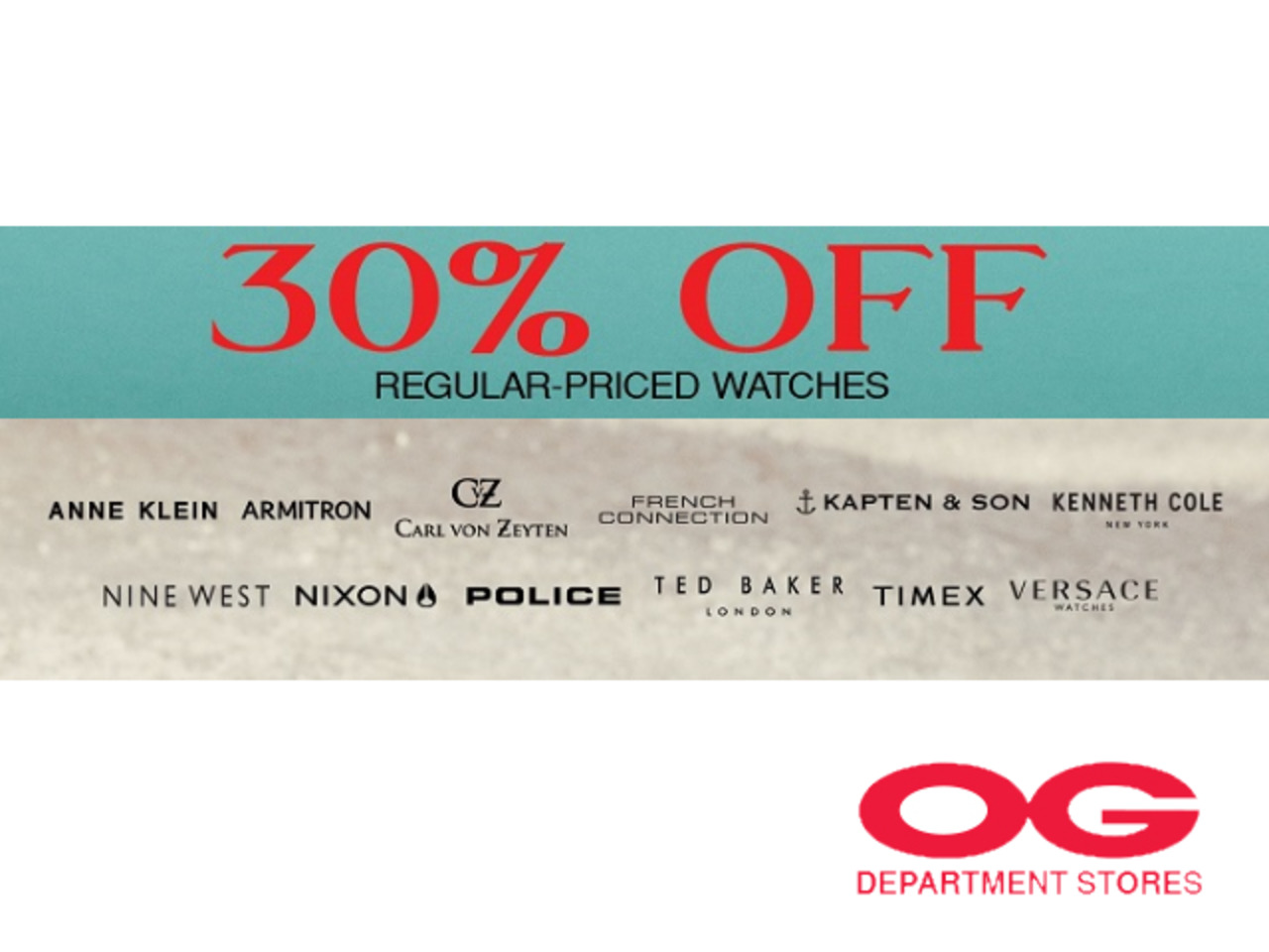 30% off ASSORTED BRANDS Regular-Priced Timepieces