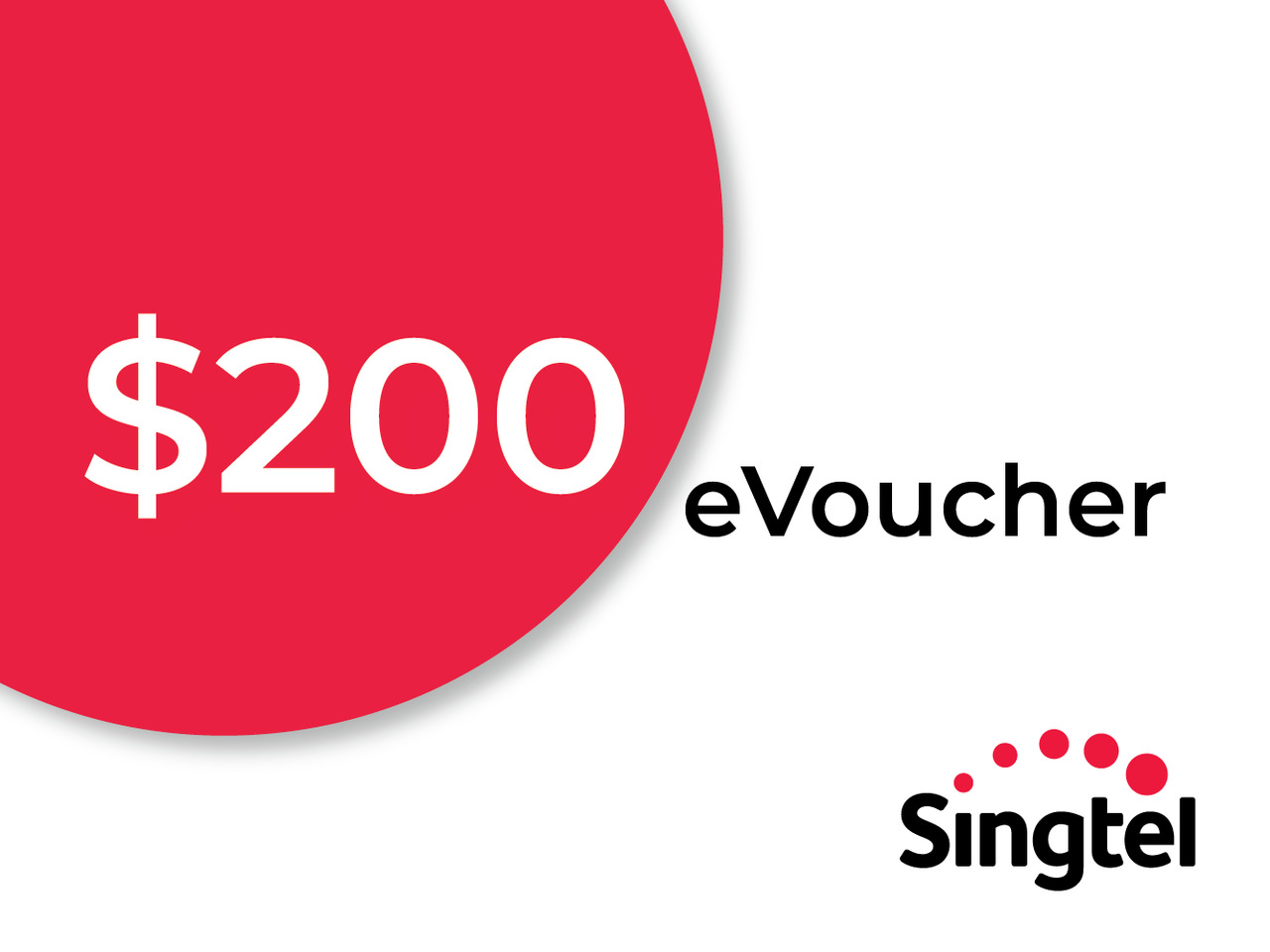 <CNY Exclusive !> 20% off $200 Singtel No Contract Shop eVoucher