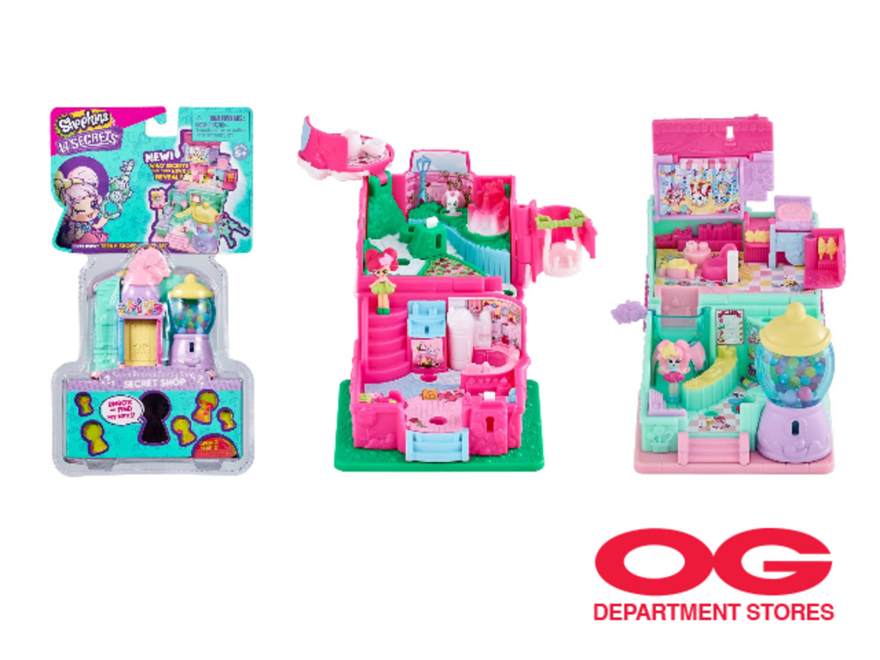SHOPKINS SECRETS S3 MINI PLAYSET @ 2 for $15