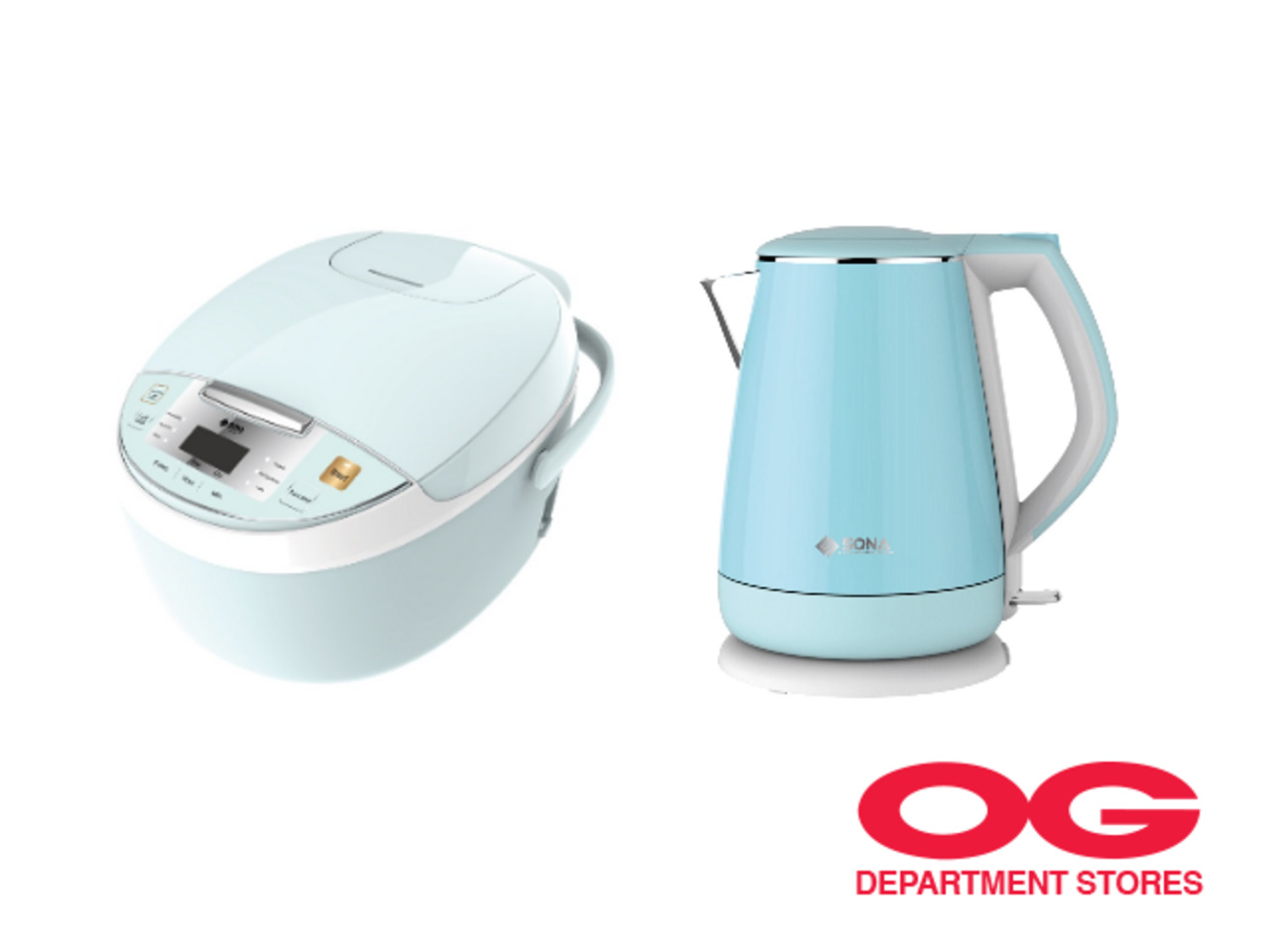 SONA 1L Digital Rice Cooker + 1.5L Double Layer Kettle Jug @ $100 Off
