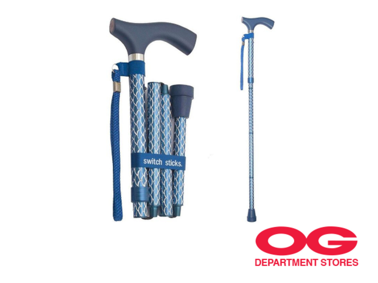 Switch Stick Foldable Walking Stick @ 30% off