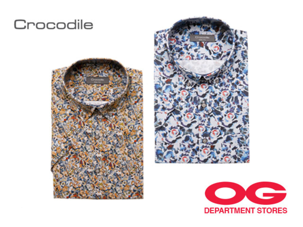 CROCODILE 100% Cotton Short-Sleeved Shirt (Selected Designs) @ 2 for $80
