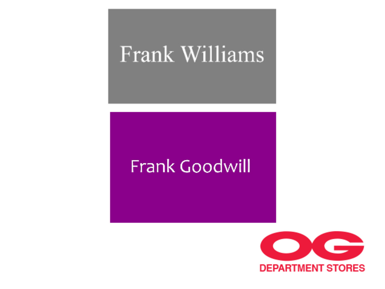 FRANK WILLIAMS / FRANK GOODWILL All Regular-Priced Men's Shoes @ 30% off