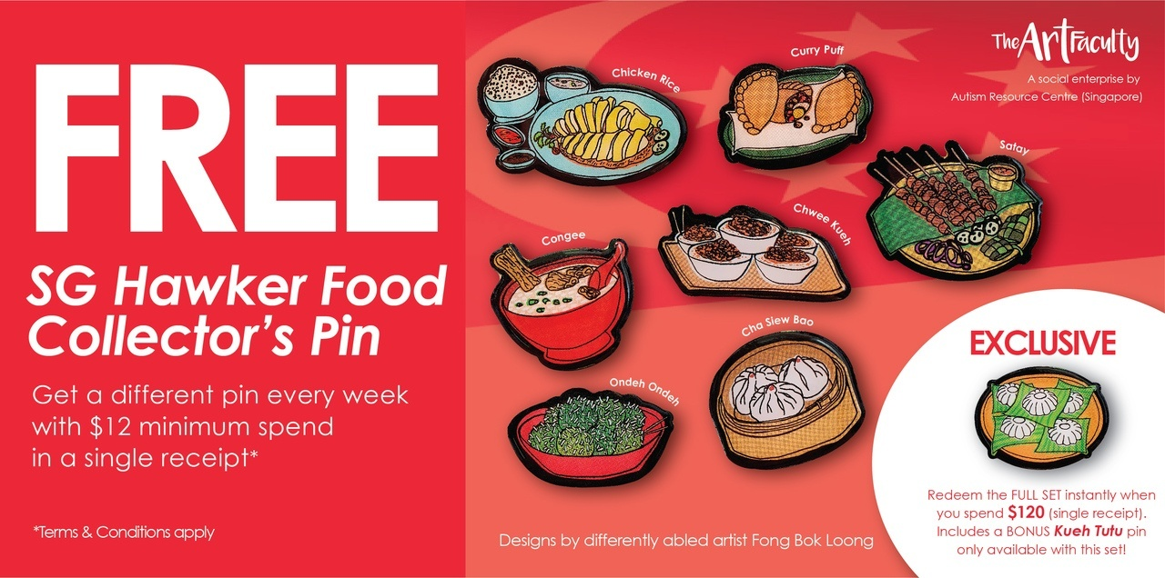 Free Hawker Food Pins (The Art Faculty)