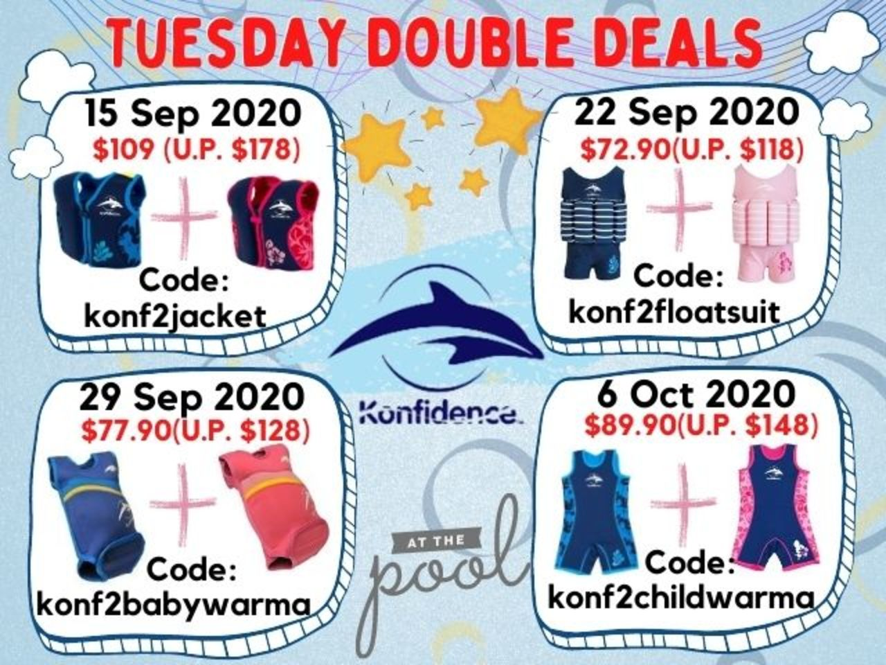 Tue 22 Sept Deal: The Konfidence Floatsuit Buy 2 at Only $72.90 (RRP $118)