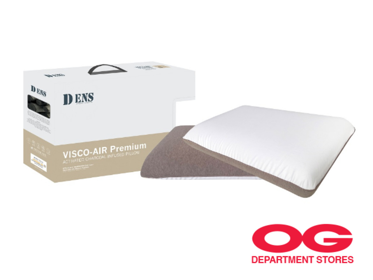 DENS Premium Visco-Air Duo Pillow @ $99 + Buy 1 Free 1