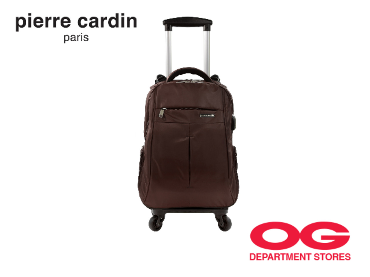 "PIERRE CARDIN Backpack With Detachable Trolley And USB Port @ Bundle 18"" + 20"" at $129"