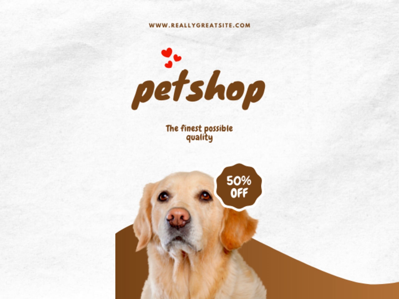 Get 50% off storewide pet products !